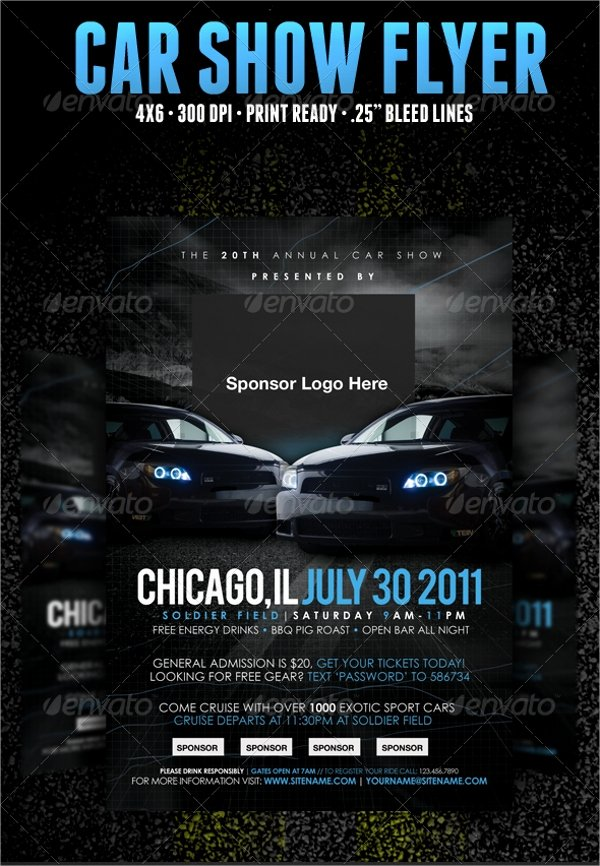 Car Show Flyer Template Free Lovely 22 Car Show Flyer Templates Ai Psd Docs