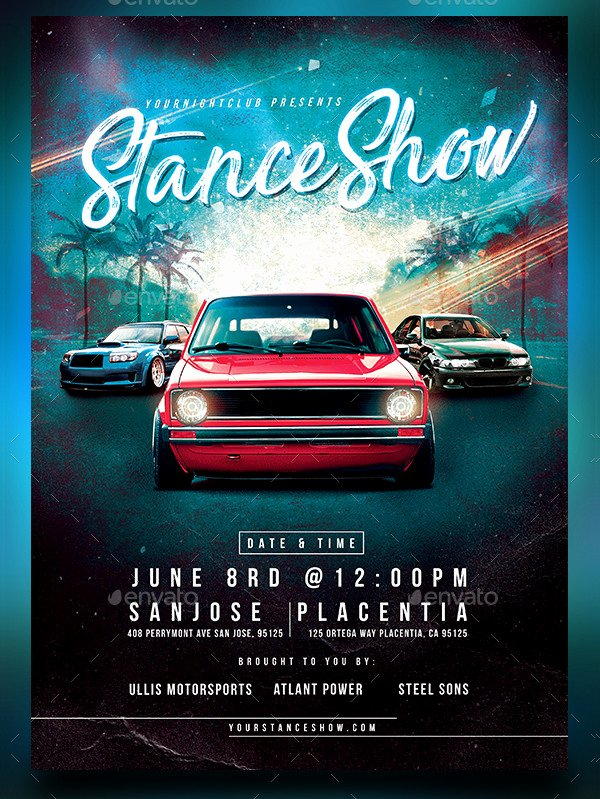 Car Show Flyer Template Free Luxury 25 Car Show Flyer Templates Free & Premium Download