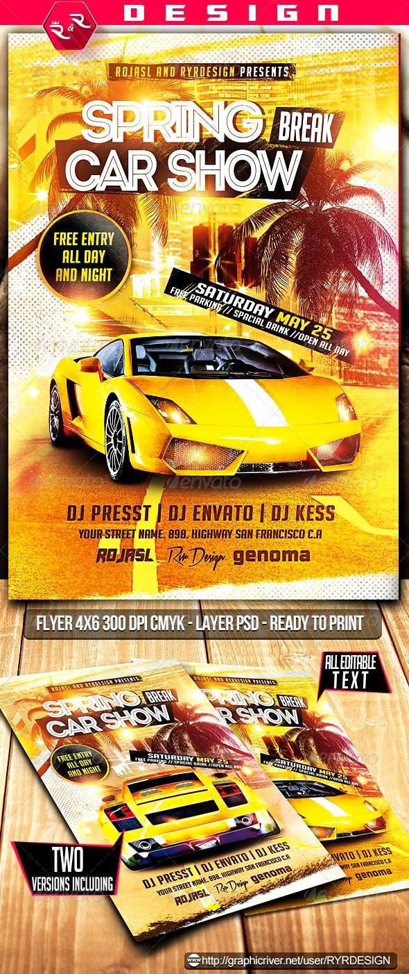 Car Show Flyer Template Free Luxury 9 Best Car Show Flyer Images On Pinterest
