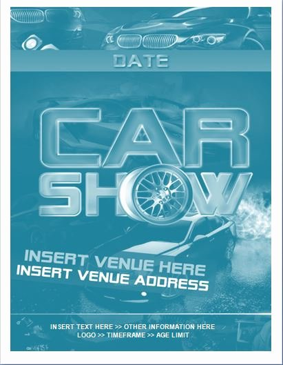Car Show Flyer Template Free New Sample Car Show Flyer Template