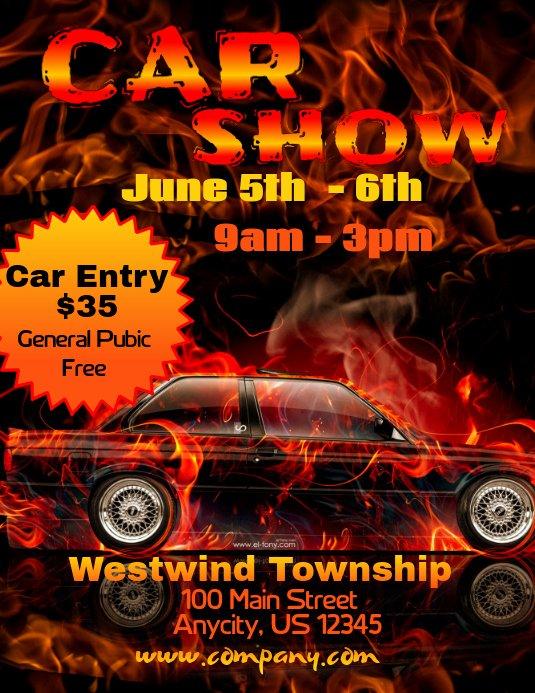Car Show Flyer Template Free Unique Car Show Template