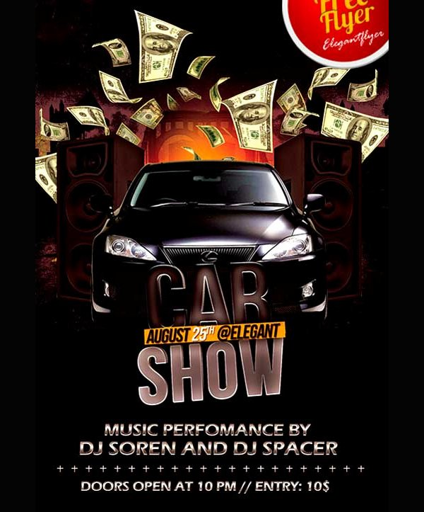 Car Show Flyer Template Inspirational 19 Car Show Flyer Templates Free & Premium Download