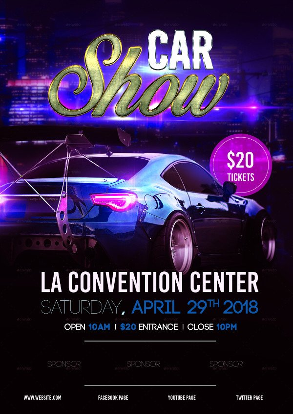 Car Show Flyer Template Inspirational 25 Car Show Flyer Templates Free & Premium Download