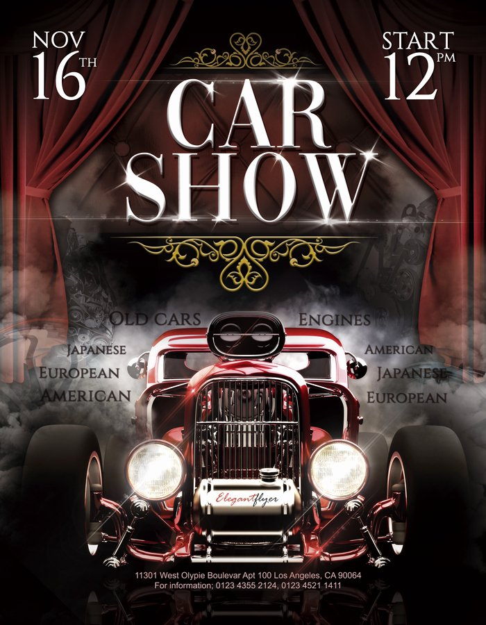 Car Show Flyer Template Lovely Car Show – Free Flyer Psd Template – by Elegantflyer