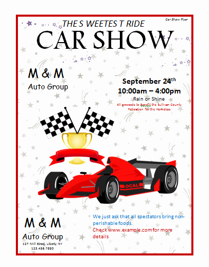 Car Show Flyer Template New Car Show Flyer Template Microsoft Word Templates