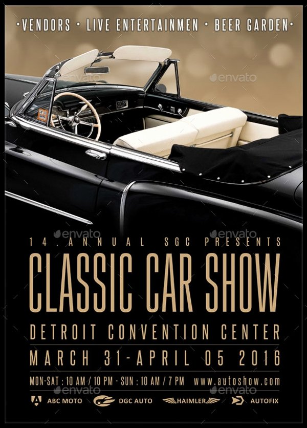 Car Show Flyer Template Unique 26 Modern Car Show Flyer Designs & Creatives Ai Docs Psd