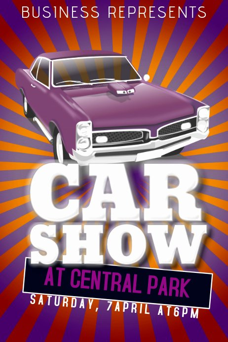 Car Show Flyer Template Unique Car Show Flyer Template Old Retro Vintage