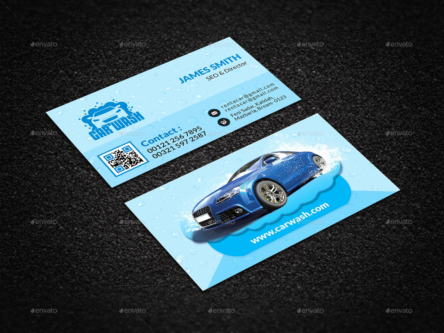 Car Wash Business Cards Awesome Car Wash Business Card by Creative touch