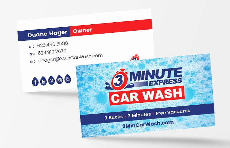 Car Wash Business Cards Beautiful Business Card Design Phoenix by Jen Chapman Creative