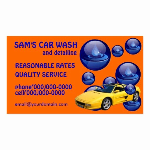 Car Wash Business Cards Best Of Car Wash Service Business Cards
