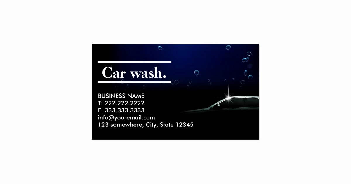 Car Wash Business Cards Fresh Elegant Dark Auto Detailing Car Wash Business Card