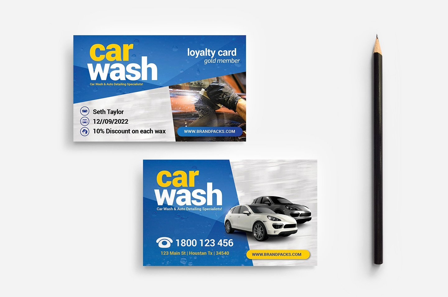 Car Wash Business Cards Inspirational Car Wash Business Card Template Business Card Templates Creative Market