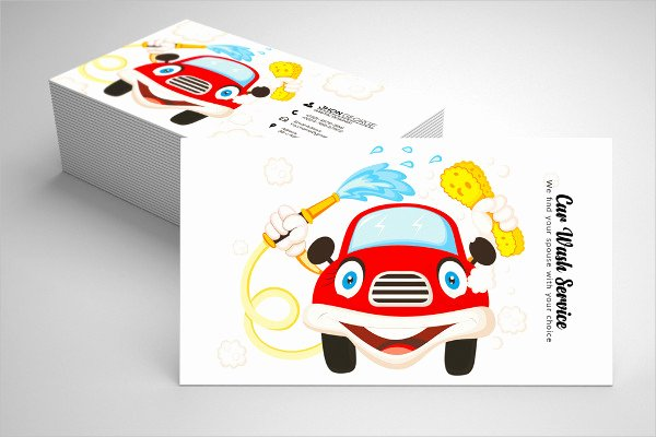 Car Wash Business Cards Lovely 19 Car Wash Business Card Templates Free & Premium Download