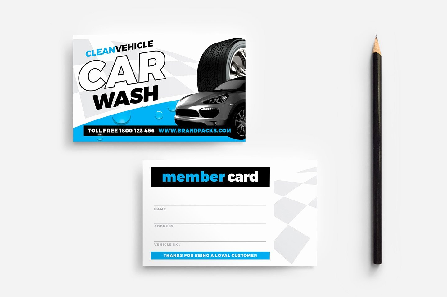 Car Wash Business Cards Lovely Car Wash Member Card Template Flyer Templates Creative Market