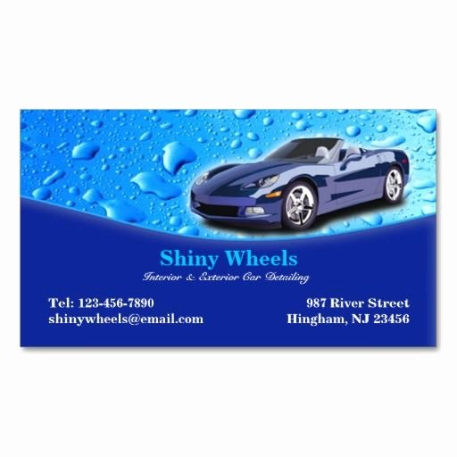 Car Wash Business Cards Luxury Auto Detailing Business Card Zazzle Auto Detailing Business Cards