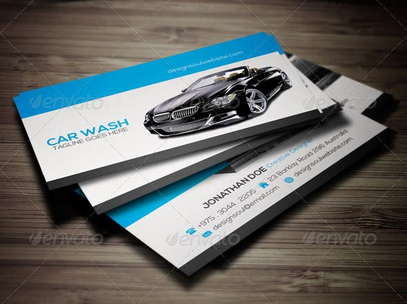 Car Wash Business Cards Unique 20 Best Automotive Business Card Design Templates