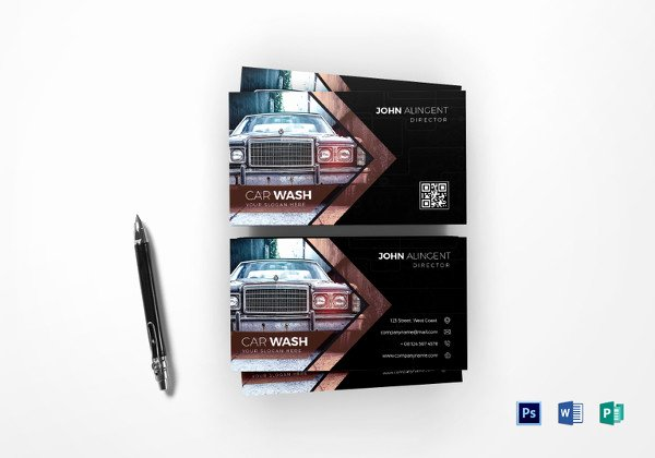 Car Wash Business Cards Unique 25 Automotive Business Card Templates Ms Word Illustrator Apple Pages