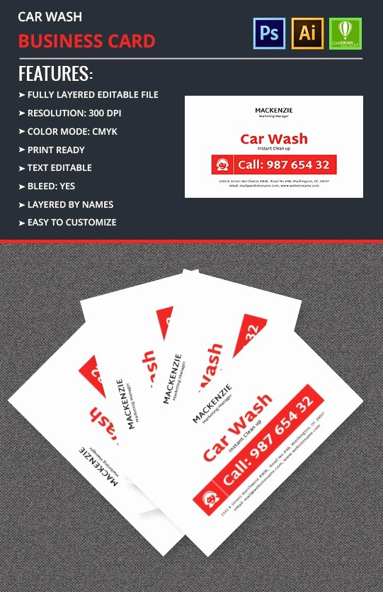 Car Wash Business Cards Unique Name for A Car Wash Business