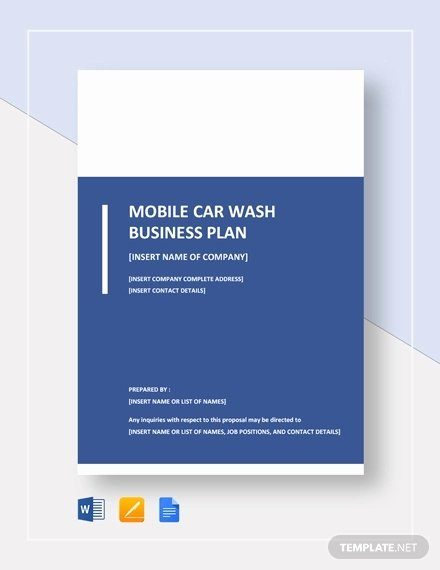 Car Wash Business Plan Pdf Awesome 16 Car Wash Business Plan Template Free Word Excel Pdf