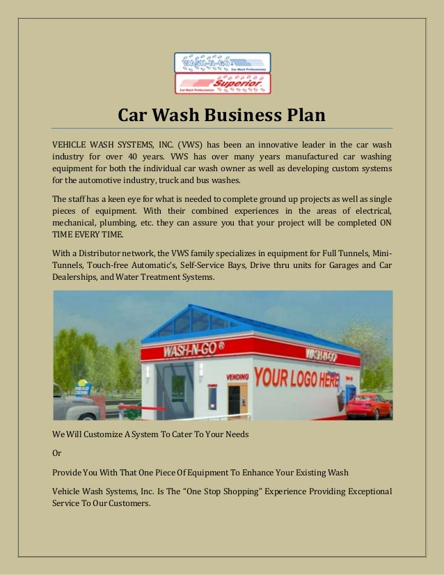 Car Wash Business Plan Pdf Awesome Car Wash Business Plan