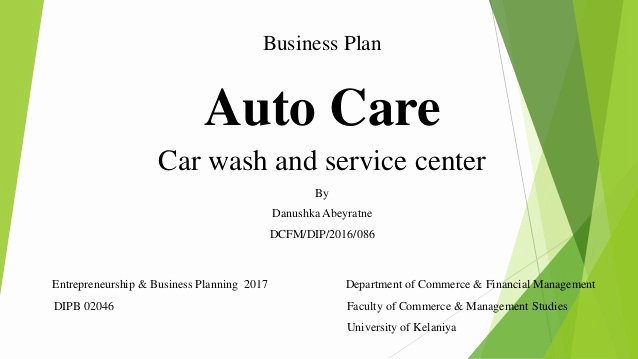 Car Wash Business Plan Pdf Elegant Car Wash Business Plan