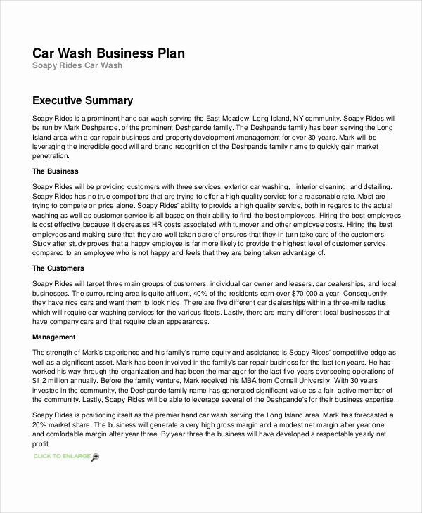 Car Wash Business Plan Pdf Inspirational 26 Business Plans Free Sample Example format