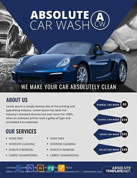 Car Wash Flyer Template Free Elegant 10 Free Car Wash Flyer Templates Word Psd Indesign Apple Pages Publisher