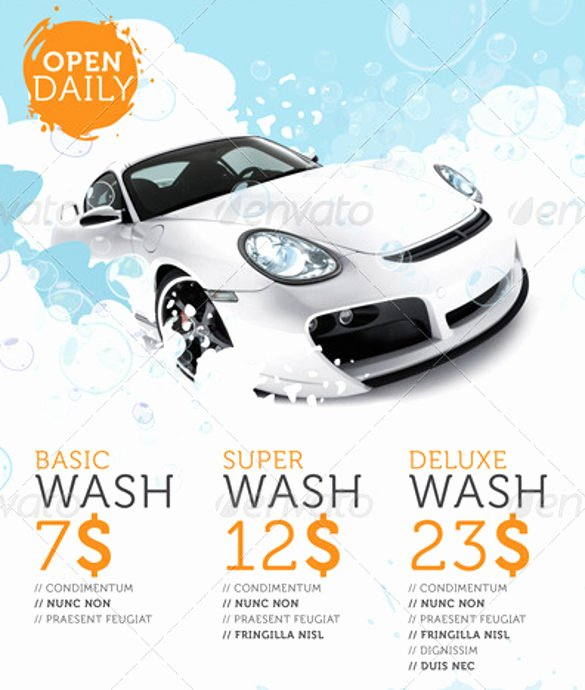 Car Wash Flyer Template Free Elegant Car Wash Flyers – 40 Free Psd Eps Indesign format Download