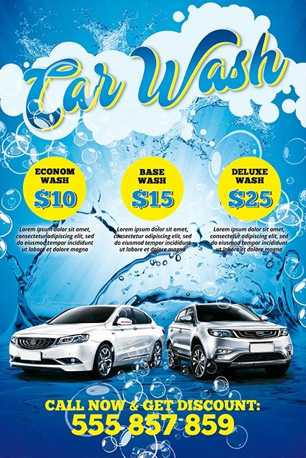 Car Wash Flyer Template Free Fresh Car Wash Free Poster Template Download Psd Flyer