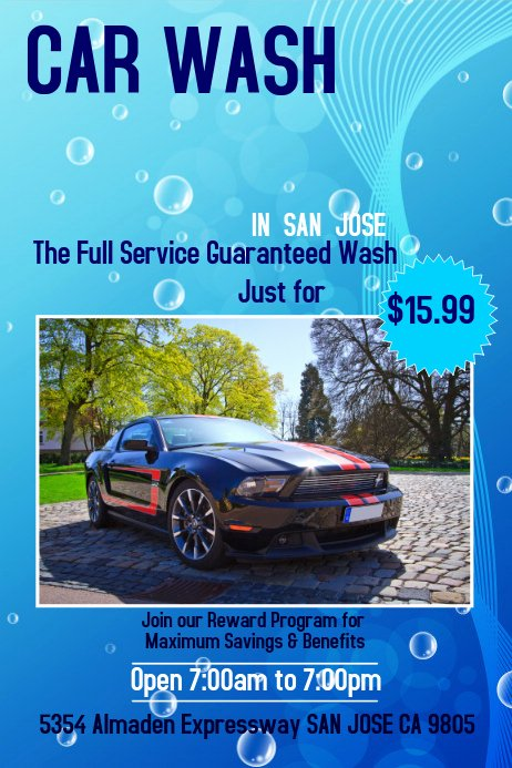 Car Wash Flyer Template Free Inspirational Car Wash Poster Template