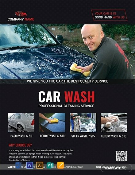 Car Wash Flyer Template Free Unique 10 Free Car Wash Flyer Templates Word Psd Indesign Apple Pages Publisher