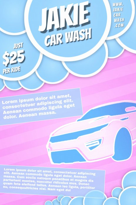 Car Wash Flyer Template Free Unique Car Wash Poster Template