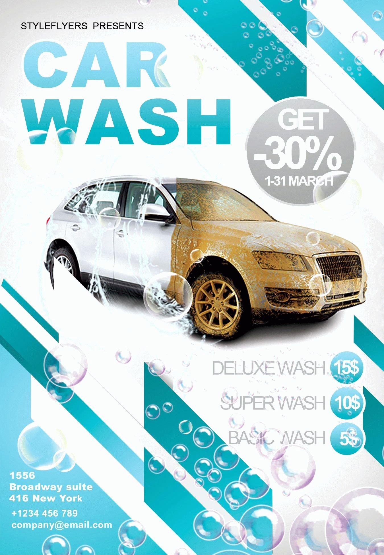 Car Wash Flyer Template Free Unique Car Wash Psd Flyer Template