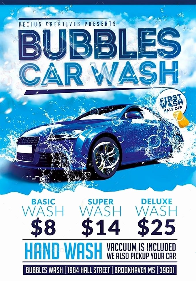 Car Wash Flyers Template Awesome 20 Car Wash Flyer Templates 2019 Templatefor