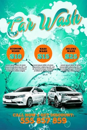 Car Wash Flyers Template Awesome Car Wash Free Poster Template Best Of Flyers
