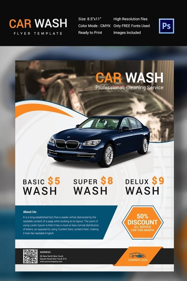 Car Wash Flyers Template Beautiful Car Wash Flyer 48 Free Psd Eps Indesign format Download