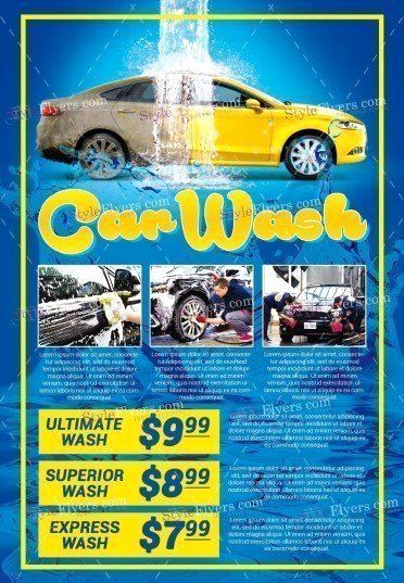 Car Wash Flyers Template Beautiful Car Wash Psd Flyer Template Styleflyers