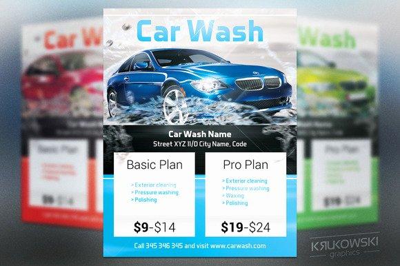 Car Wash Flyers Template Elegant Car Wash Flyer Template Flyer Templates On Creative Market