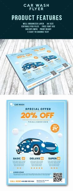 Car Wash Flyers Template Inspirational Car Detail Flyer Template Free Google Search Auto Detail Pinterest