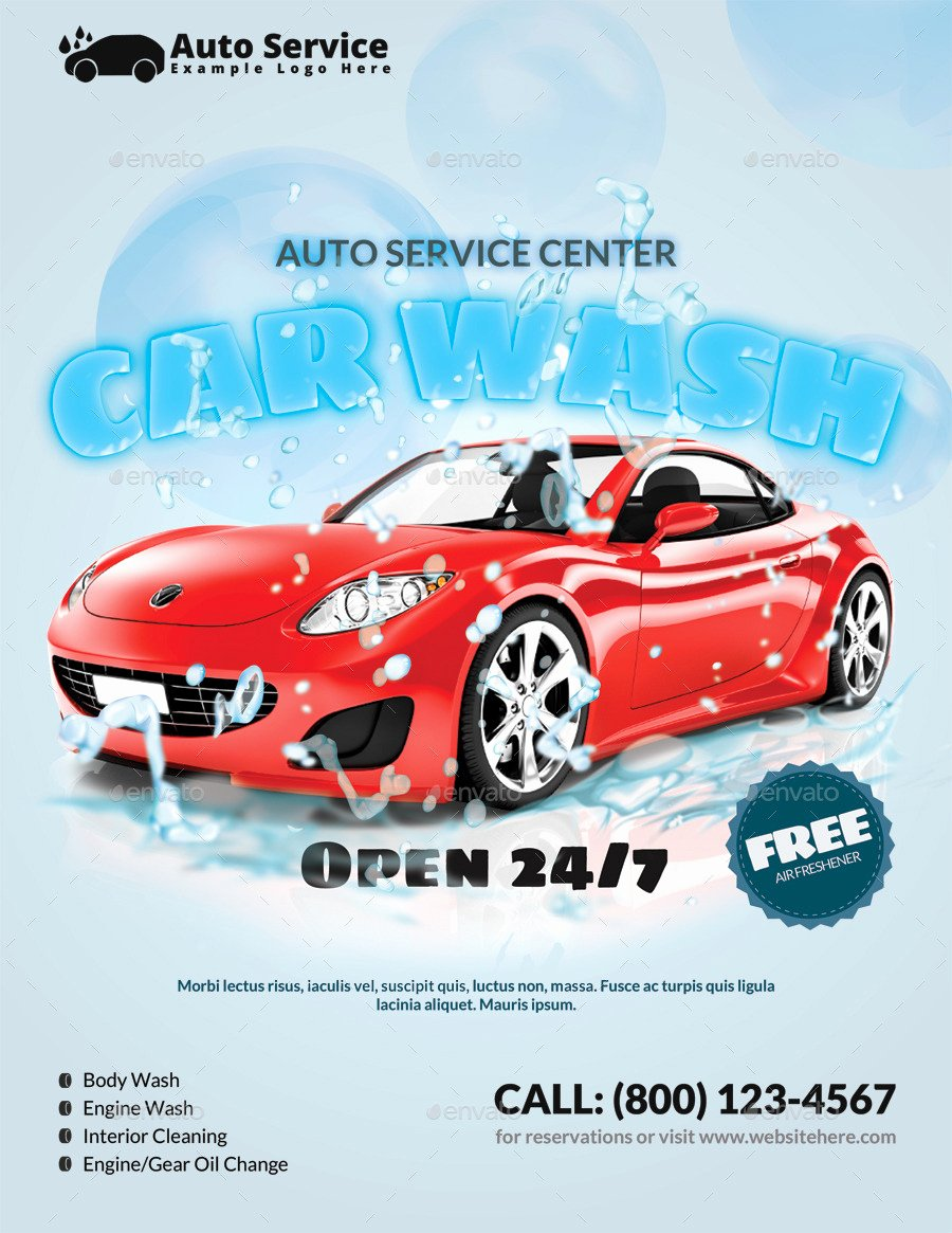 Car Wash Flyers Template Luxury 18 Car Wash Flyer Designs & Examples – Psd Ai Word