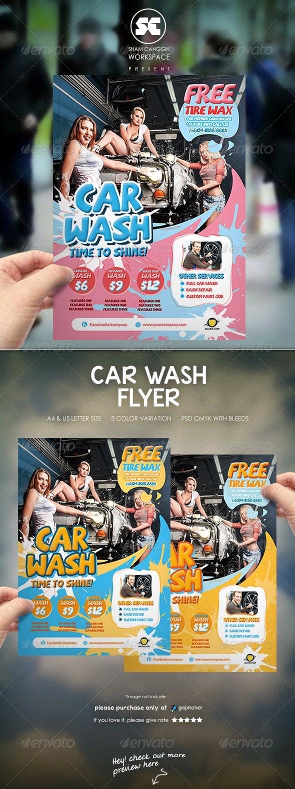 Car Wash Flyers Template Unique 1000 Images About Auto Bridal On Pinterest