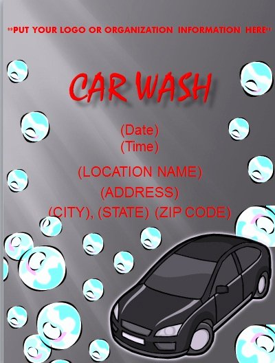 Car Wash Flyers Template Unique Flyer and Resume Templates