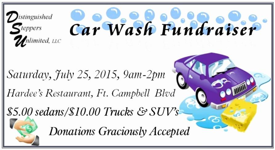 Car Wash Fundraiser Flyers Elegant Distinguished Steppers Unlimited