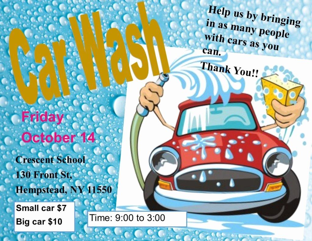 Car Wash Fundraiser Flyers Fresh Car Wash Fundraiser – Crescent School