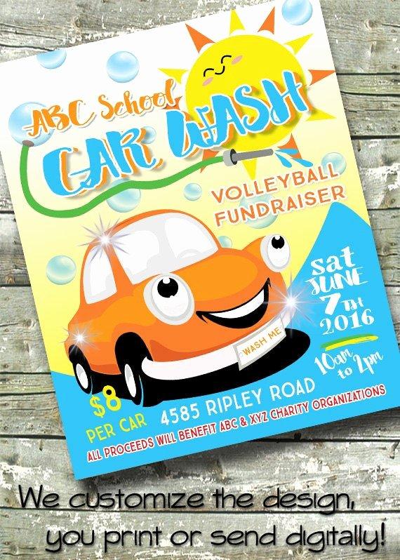 Car Wash Fundraiser Flyers Lovely Car Wash Summer Fundraiser 5x7 Invite 8 5x11 Flyer