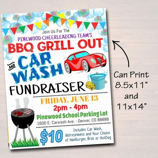 Car Wash Fundraiser Flyers Lovely Editable Car Wash Fundraiser Flyer Ticket Set Pto Pta Church Charity – Tidylady Printables