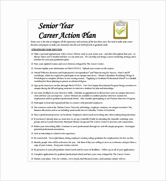 Career Action Plan Template Unique 13 Career Action Plan Templates Doc Pdf Excel