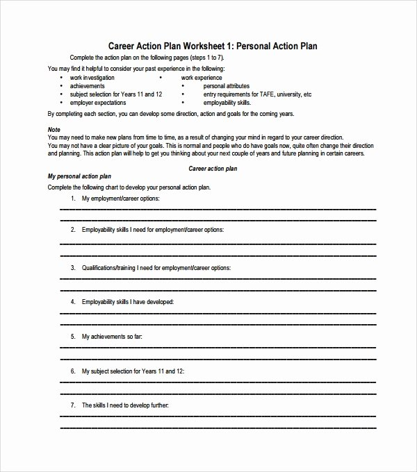 Career Action Plan Template Unique Sample Action Plan Template 28 Download Free Documents