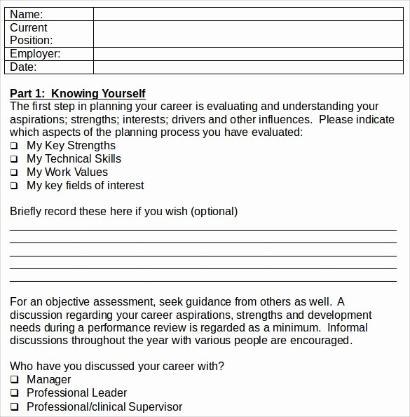 Career Action Plan Template Unique Sample Career Plan 11 Documents In Pdf Word