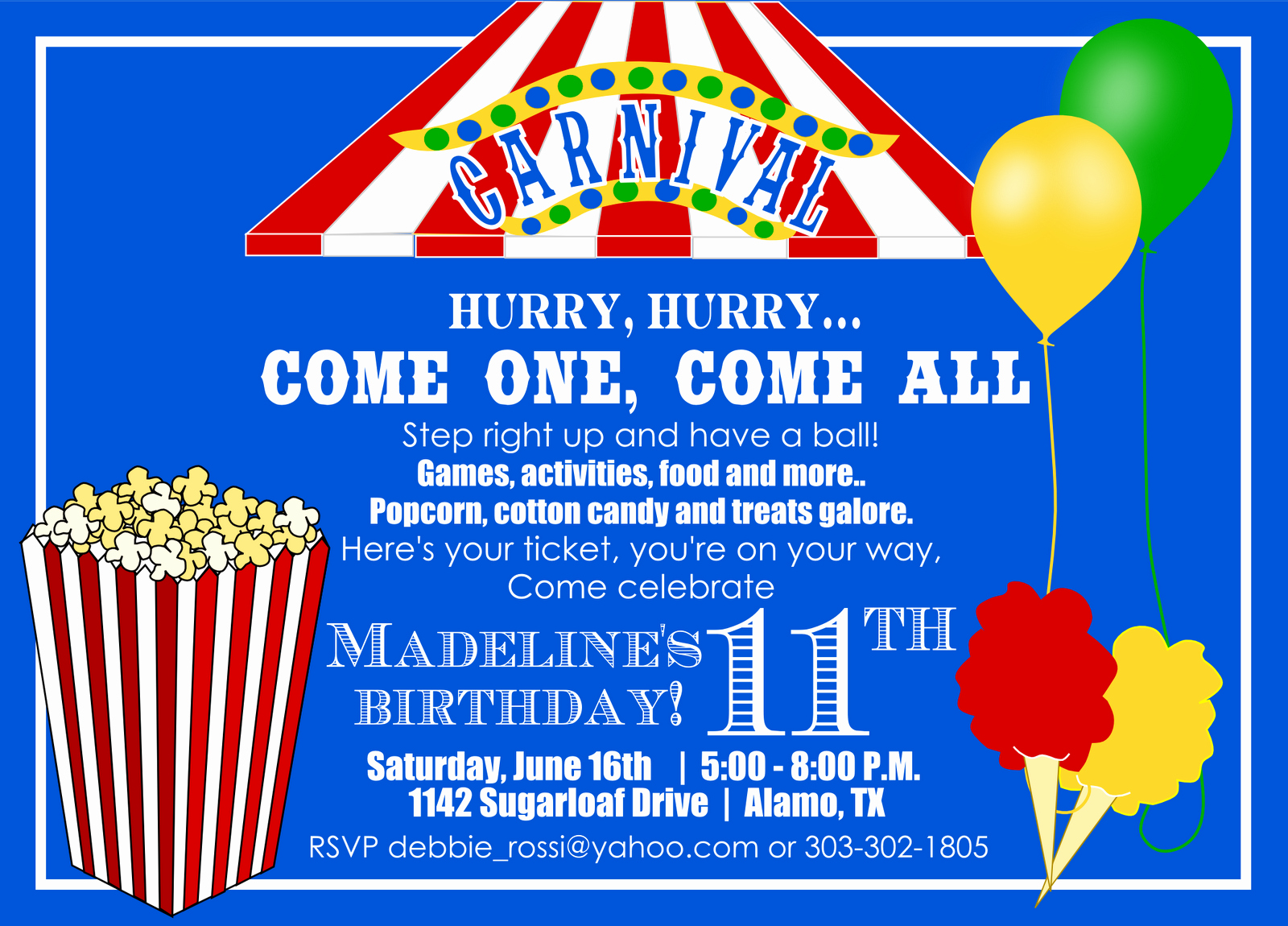Carnival Birthday Party Invitations Awesome 40th Birthday Ideas Carnival Birthday Invitation Template Free